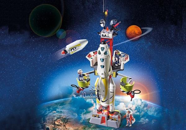 Rakieta kosmiczna z rampą startową (9488)