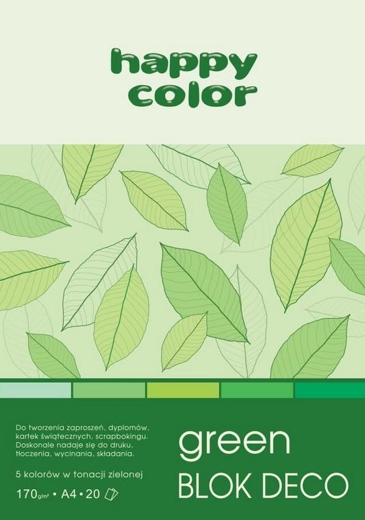Blok Deco Green A4/20 (HA 3717 2030-052)