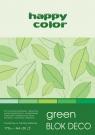 Blok Happy Color Deco Green, A4, 20 arkuszy (HA 3717 2030-052)
