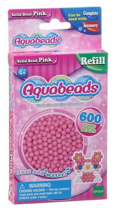 Aquabeads Różowe lite koraliki (32588)