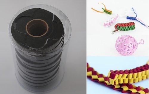 Wstążki filcowe 0,5cm. x 6m kolor czarny 13 sztuk