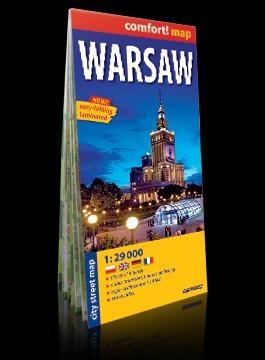 Comfort! map Warsaw 1:29 000 ( Warszawa ) praca zbiorowa