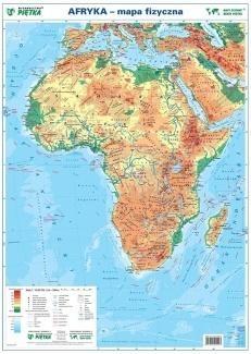 Afryka 1:19 000 000 mapa pol. i fiz. ścienna praca zbiorowa
