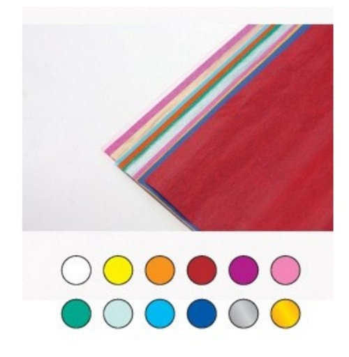 Bibuła gładka A4 5 kartek x 12 kolorów