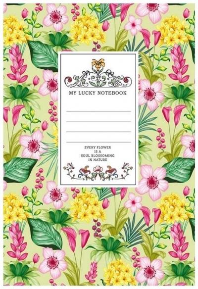 Notatnik ozdobny 145x197/80K kratka TW Kwiaty 4