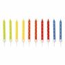 Świeczki urodzinowe kolorowe w groszki 24 sztuki (9900924)