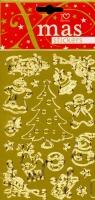 Naklejka Świąteczna srebrna/złota