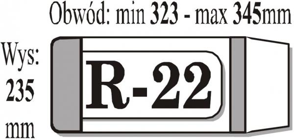 Okładka książkowa regulowana R22 (50 szt) IKS