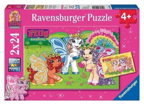 Puzzle 2x24 Filly Magiczny świat
