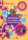 Masza i Niedźwiedź - Mozaiki do wyklejania i kolorowania