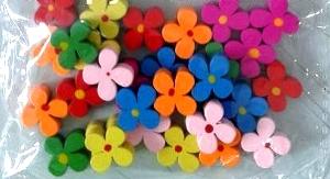 Dekoracje drewniane kwiaty 30 szt. WDC017
