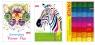 Zeszyty papierów kolorowych Dan-Mark A4/8k samoprzylepny fluo