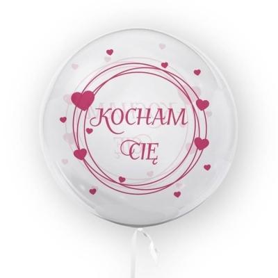 Tuban, balon 45 cm - Kocham Cię, różowy (TU 3707)