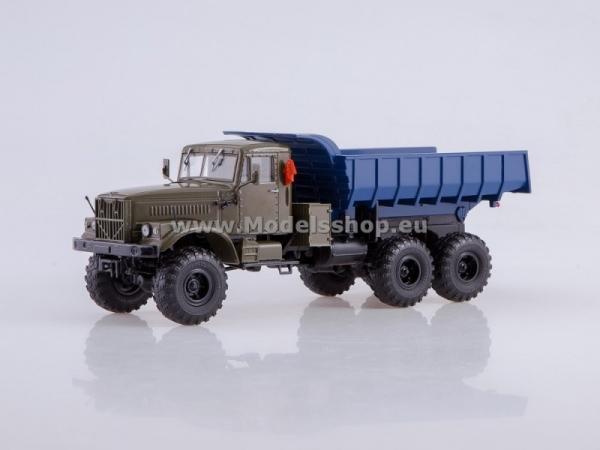 KRAZ-255B 6x6 Dumper Truck (khaki/blue) (AI1124)
