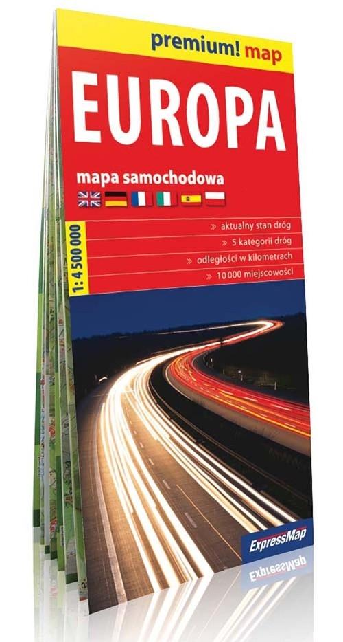 Europa Mapa Samochodowa Europy 1 4 500 000 Expressmap