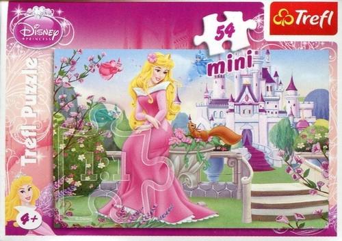 Puzzle 54 Mini Disney Księżniczki Piękna i Bestia (Uszkodzone opakowanie) (19389)