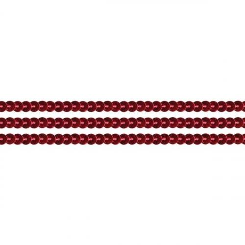 Sznurek z cekinów 2m czerwony (363632)