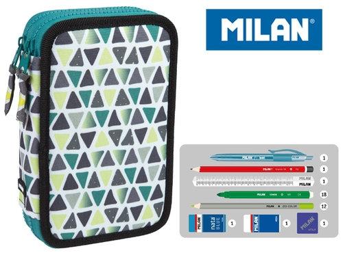 Piórnik Milan 2-poziomowy z wyposażeniem GEO zielony (081264GEGR)