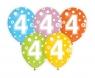 Balon gumowy Godan CYFRA 4, miks kolorów, 30 cm / 5 szt. (GZ-CYF4)