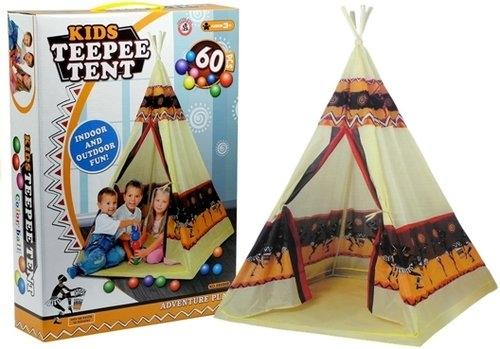 Namiot Teepee Indiański Dom Zabaw Tipi + 60 Piłek