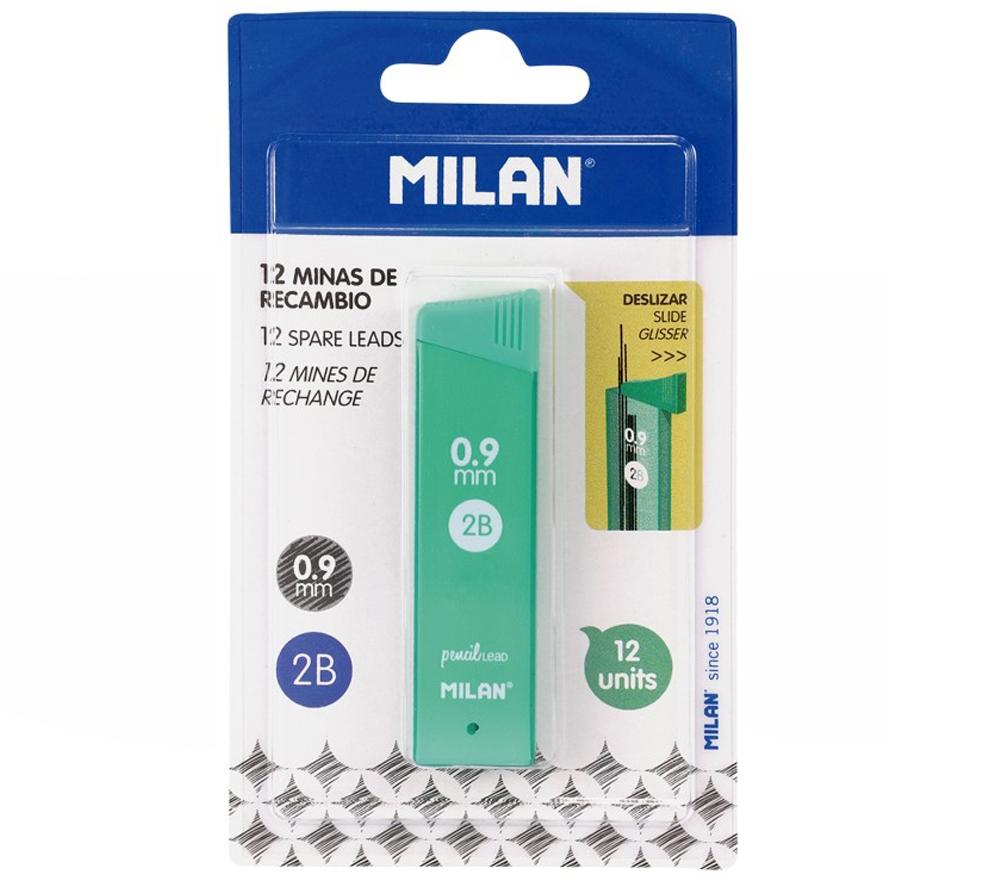 Grafity MILAN 2B 0,9 mm do ołówków automatycznych 12 szt. (BWM10334)