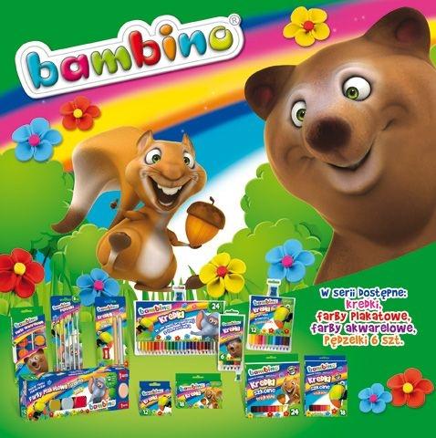 Plastelina kwadratowa Bambino, 18 kolorów - podkładka GRATIS
