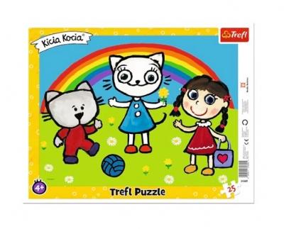 Puzzle 25el ramkowe Pogodny dzień Kici Koci