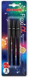 Długopis Flexi Alpha czarny 3szt PENMATE