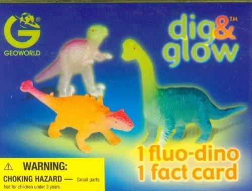 Wykopaliska Świecące dinozaury mini Stegosaurus