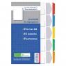 Przekładki kartonowe A4, 5 kolorów (131562)