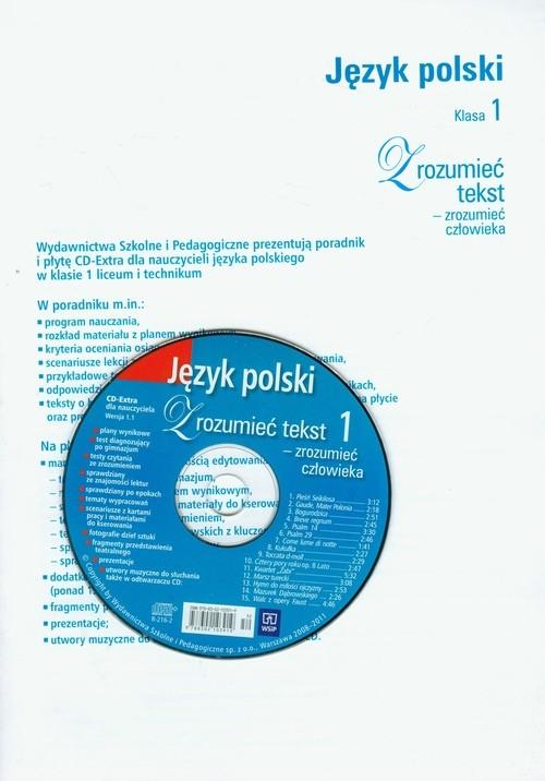 Zrozumieć tekst - zrozumieć człowieka 1 Poradnik z płytą CD Olejnik Katarzyna, Chemperek Dariusz, Kalbarczyk Adam