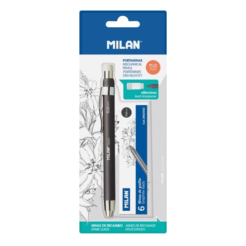 Ołówek Kubuś Milan Touch 5,2 mm z zapasowymi grafitami na blistrze (BWM10353)