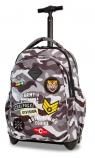 CoolPack - Junior - Plecak młodzieżowy na kółkach - Camo Black (Badges)