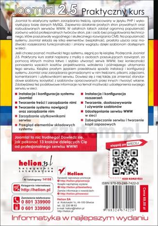 Joomla! 2.5 Praktyczny kurs Pieszczek Sławomir