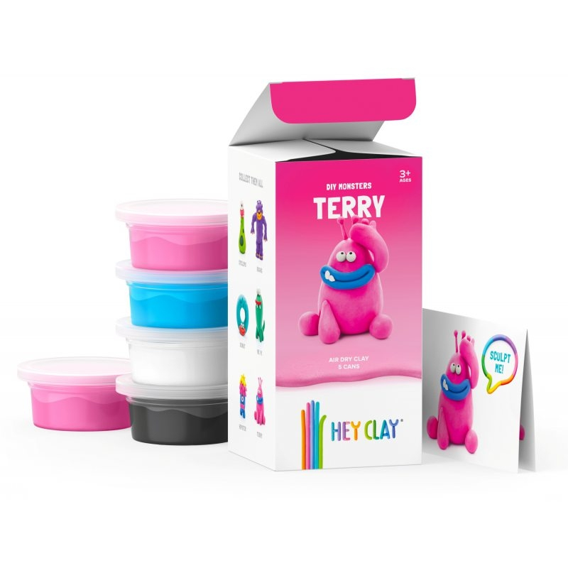 Hey Clay: masa plastyczna - potwór Terry (HCLMM001PCS)