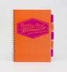 Kołozeszyt A4 Pukka Pad Project Book Neon 200 stron pomarańczowy