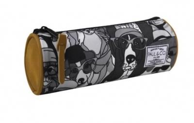Piórnik Psy czarno - biały