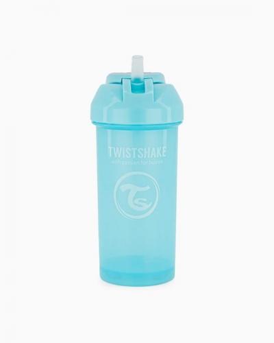 Twistshake Butelka ze Słomką 360ml Pastelowa Niebieska