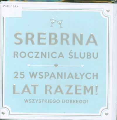 Karnet 25 Rocznica ślubu Hm 200 1377 Pan Dragon Księgarnia