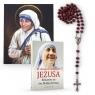 W ubogich dotykam Jezusa - Różaniec ze św. Matką Teresą - modlitewnik, różaniec, portret