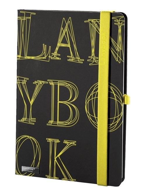 Notes A6 Lanybook LYO w kratkę czarny