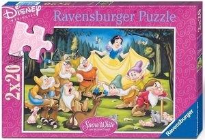 Puzzle 2x24 Królewna Śnieżka i krasnoludki (088898) RAP088898