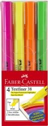 Zakreślacz 38 4 szt. Etui Faber-Castell