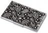 Etui na wizytówki TROIKA PAISLEY CLASSIC - chromowany metal z designerskim wzorem, na 11 wizytówek