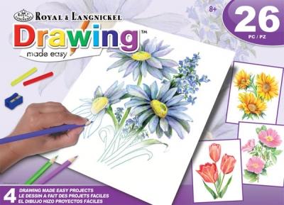 Kwiaty - rysowanie jest łatwe 4 zestawy