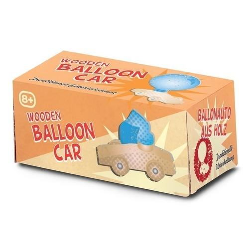 Drewniany samochodzik na balon