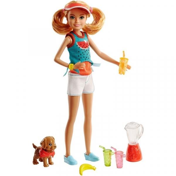 Barbie Lalka Siostra Stacie i zwierzątko (FHP61/FHP63)