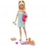 Barbie - Zestaw Relaks w SPA Lalka z pieskiem i akcesoriami (GKH73/GJG55)