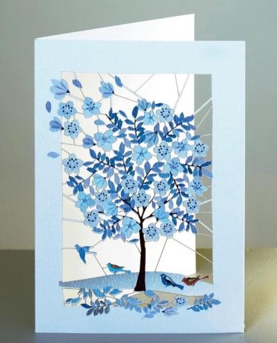 Karnet PM189 wycinany + koperta Drzewo