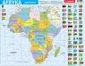 Puzzle ramkowe 72: Afryka - mapa polityczna